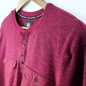 Rock & Republic Henley Long Sleeve Shirt